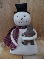 Prim Snowman with Ginger