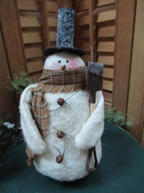 Baby Frosty with Shovel